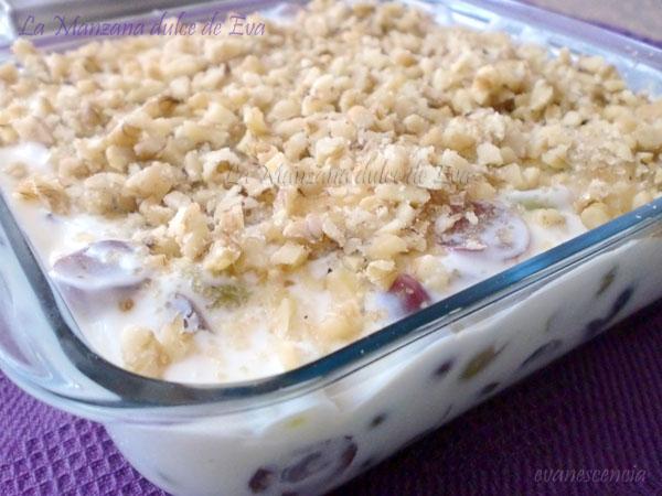 postre cremoso de uvas - creamy grapes dessert
