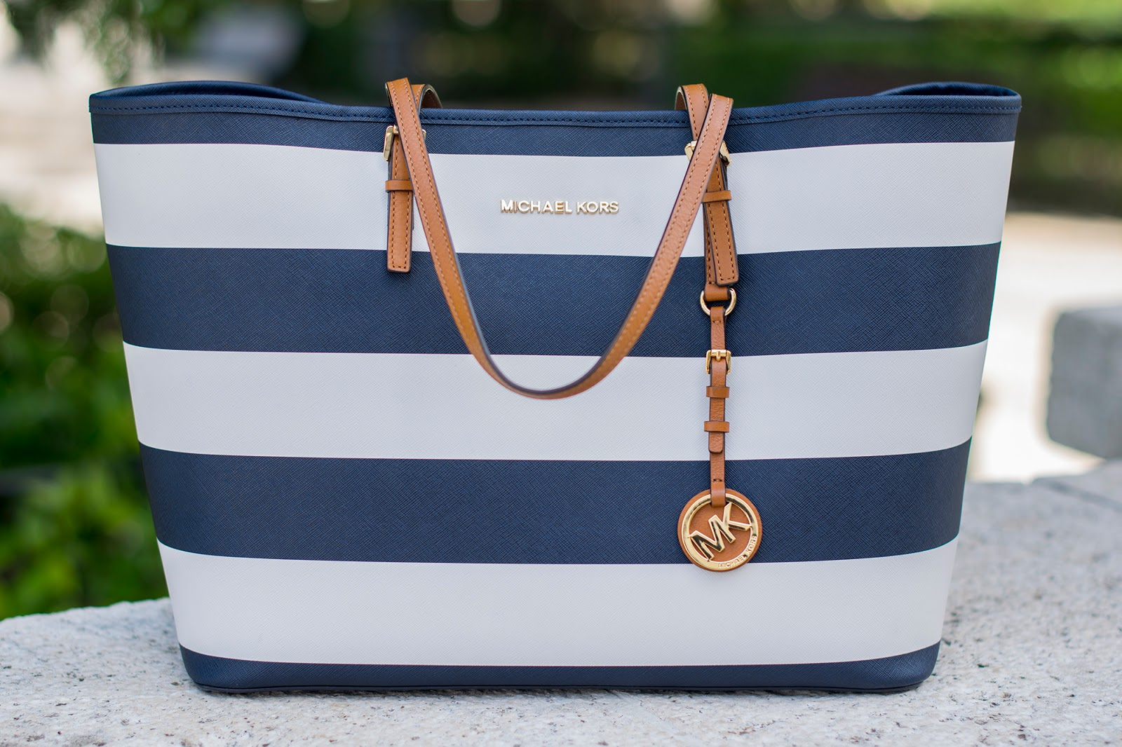 Bolso Michaels Kors rayas navy