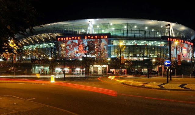 The Emirates stadium at Christmas