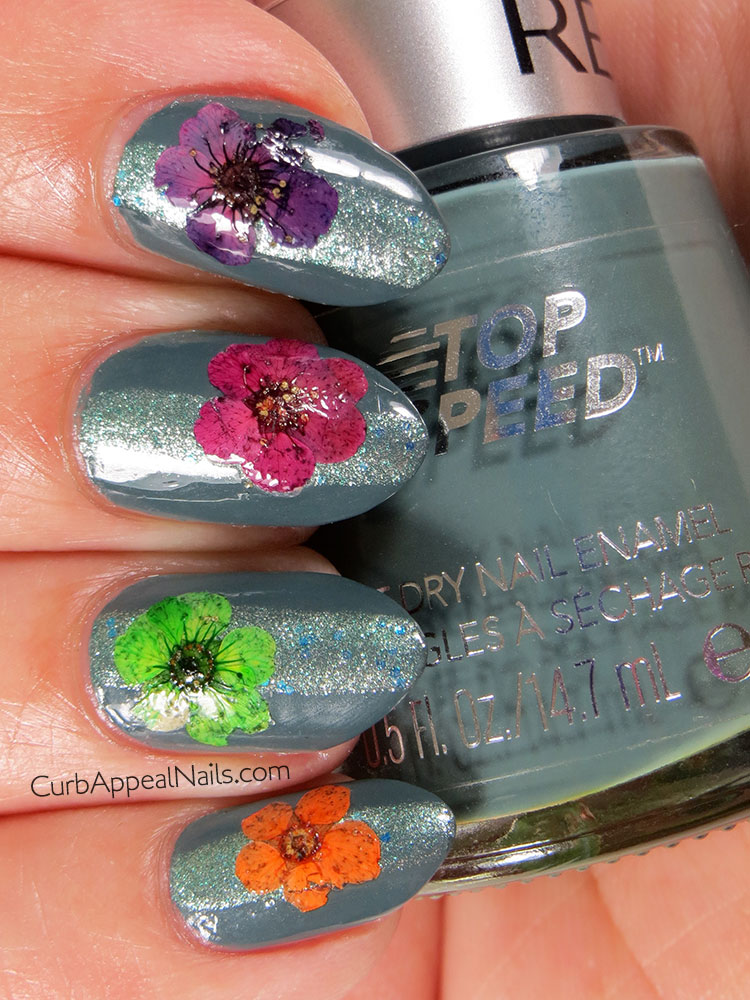 Revlon Essence and Urban Outfitters Sea Dust with Real Pressed Flowers