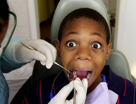 Ask the dentist to lean the chair back before your child gets in it