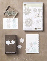 Stampin'UP!'s Flurry of Wishes Stamp Set and matching Snowflake Flurry Punch