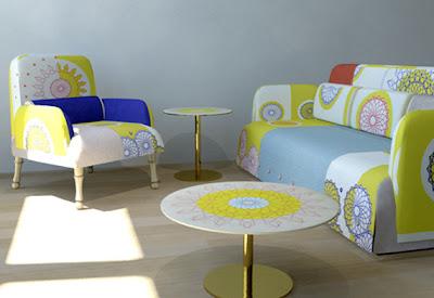 sofá simples em tecido