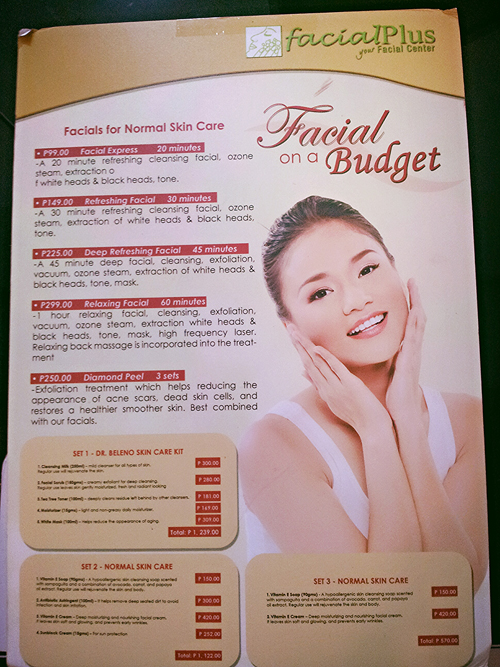 facial plus, facial on a budget