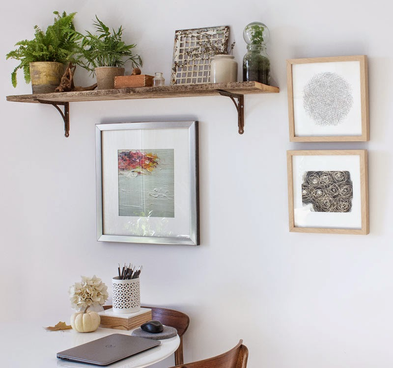 modern rustic plant shelf