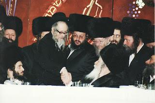 האדמו''ר מגור עם הרב אליעזר ברלנד
