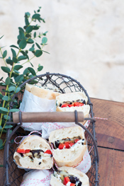 Herbed Goat Cheese and Grilled Veggie Sandwiches