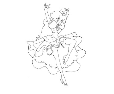 #27 Princess Peach Coloring Page