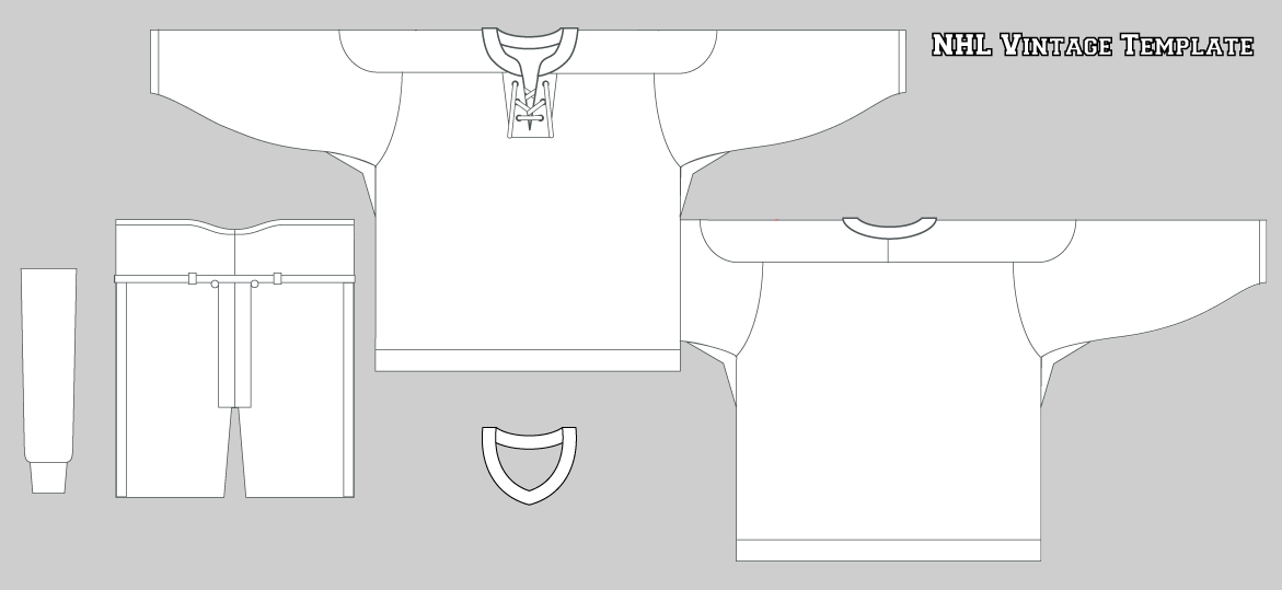 Outline Of A Hockey Jersey Template Coloring