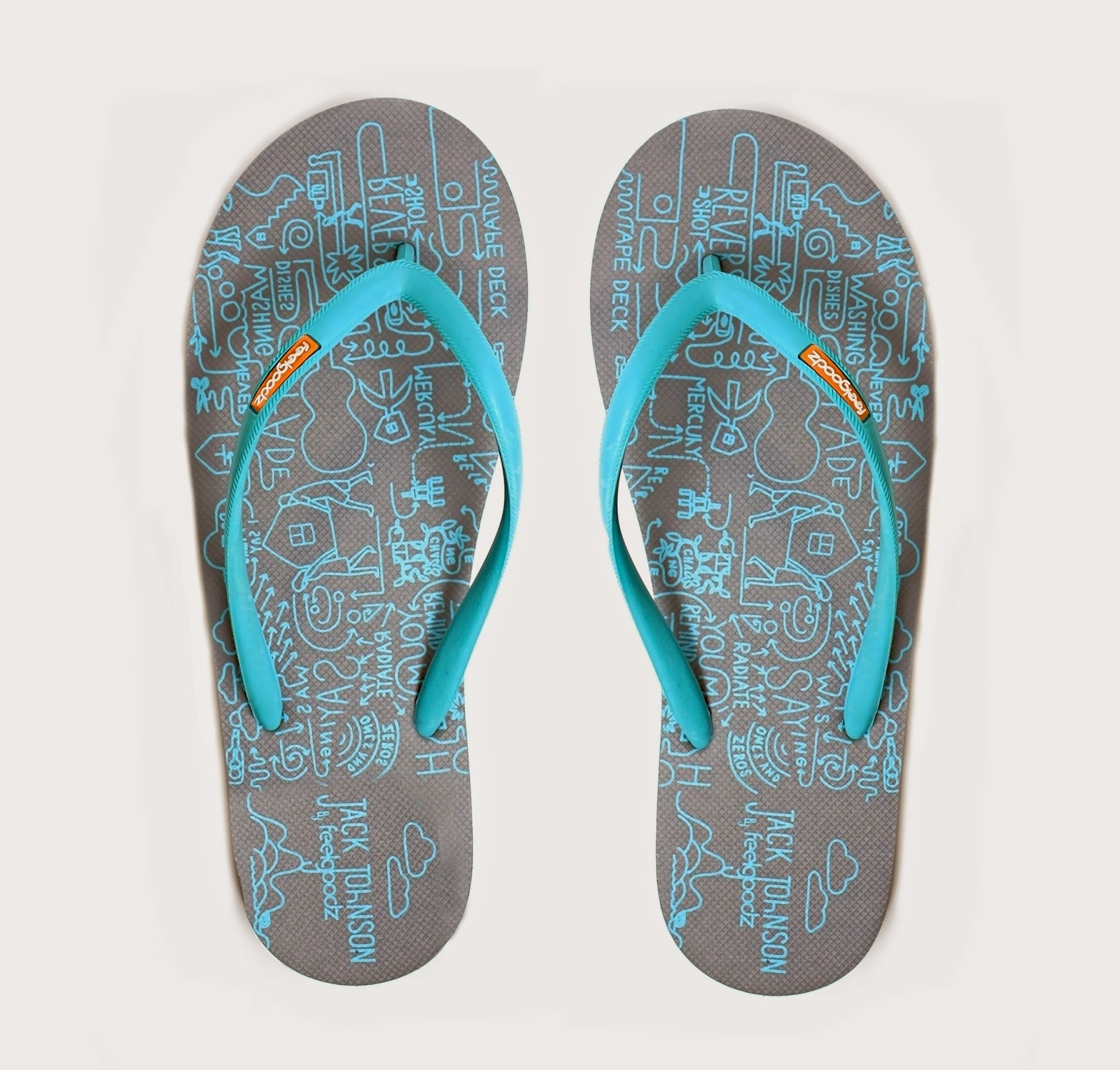 jack johnson graphic flip flop