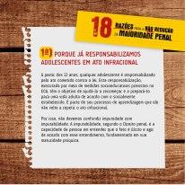 18 Razões para a não redução da maioridade penal