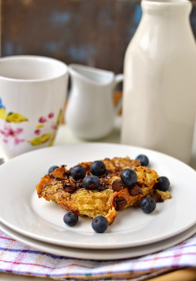 Baked French Toast with Chocolate Chips