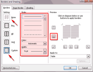 cara membuat garis kop surat di microsoft word 2010