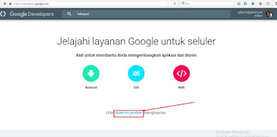 halaman utama google developer