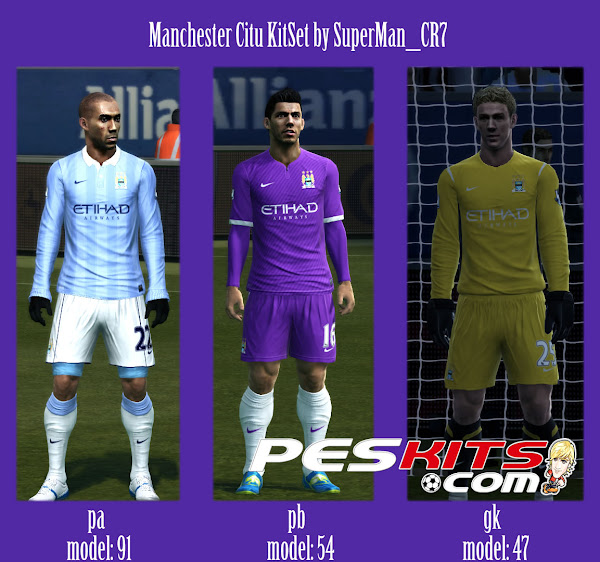 PES 2012 Manchester City Nike Fantasy Kits By SuperMan CR7