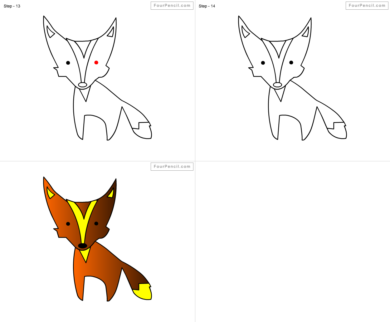Fpencil How To Draw Fox For Kids Step By Step