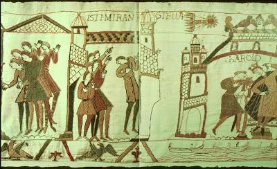 El cometa Halley en un tapíz del siglo XI