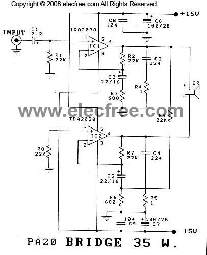 elektronika industri  kumpulan skema amplifier