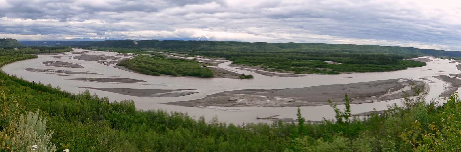 Panorama of Rabbit River, Alaska