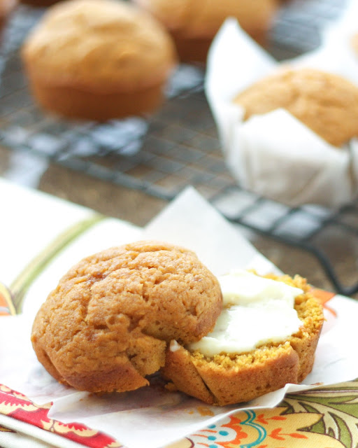 Pumpkin Muffins {traditional and gluten free recipes} - get the recipe at barefeetinthekitchen.com