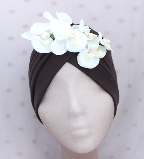 Colección Orquídea - Turbante Marrón