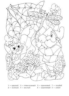 coloriage codé avec des nombres pour les enfants de la maternelle
