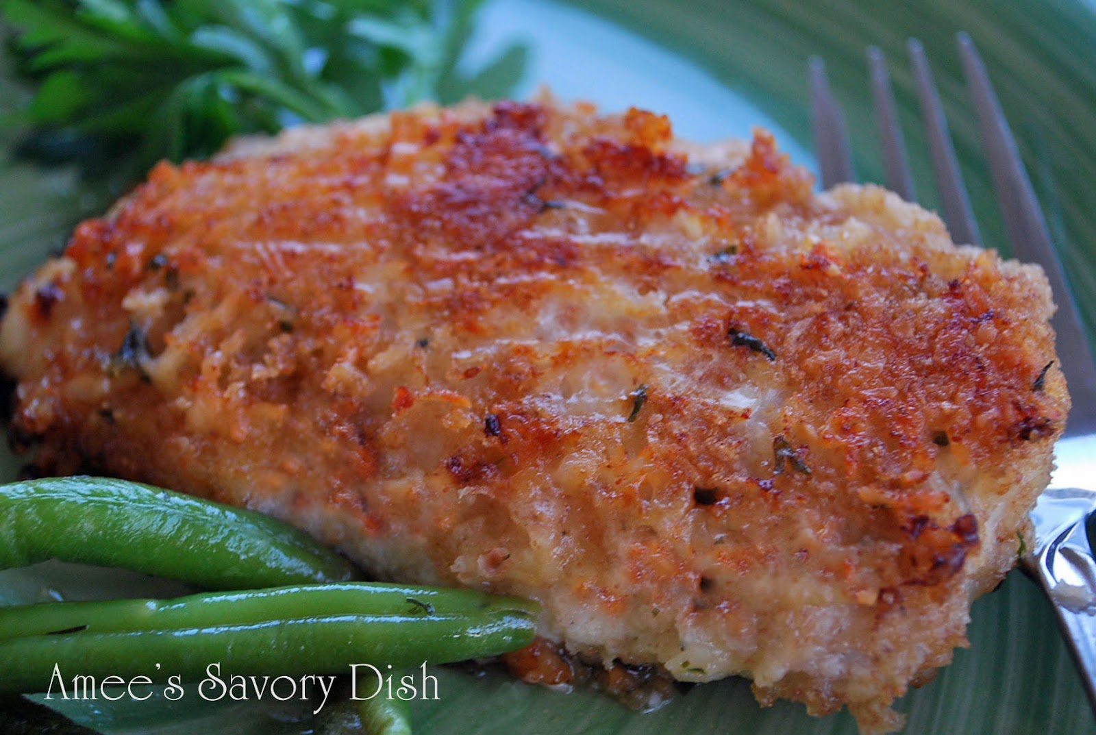 Parmesan Oven-Fried Chicken....a healthier take on the traditional