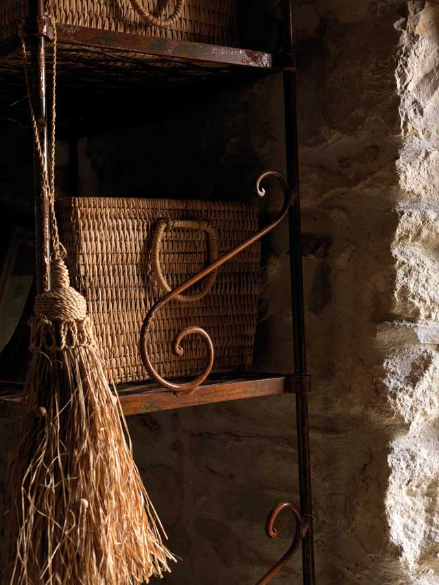 casa rural en italia-detalle de cestos