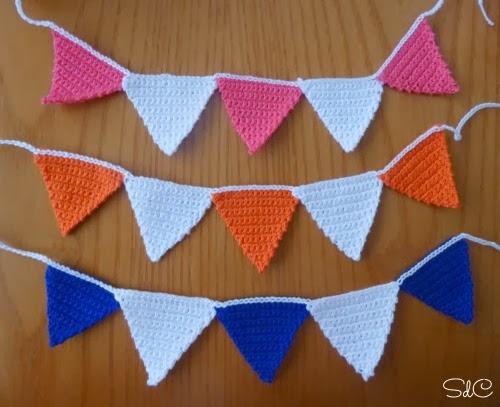 guirnalda ganchillo DIY crochet garland