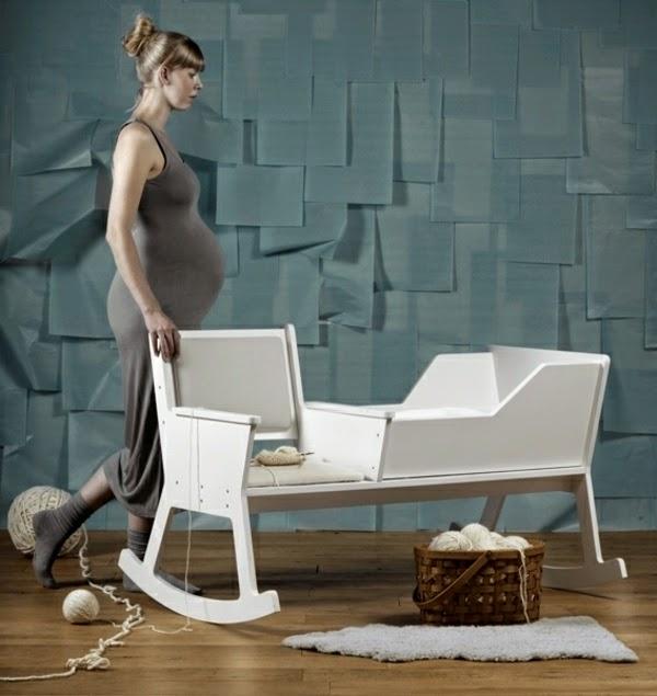 chaise à bascule berceau ,meuble multifonctionnelle