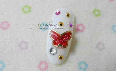 Butterfly shape of deco part