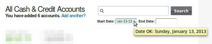 Mint search by date