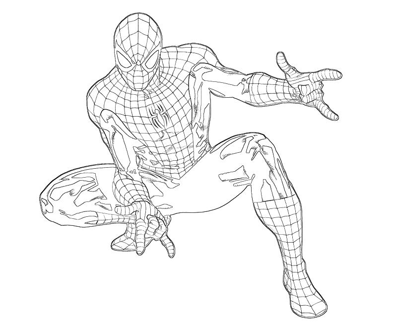 Printable Spiderman Coloring Pages Online Marvel Ultimate Alliance 2 Spider Man Character Mario