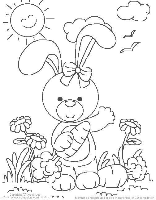 200 DESENHOS DE COELHOS DA PÁSCOA PARA  - imagens para colorir coelho