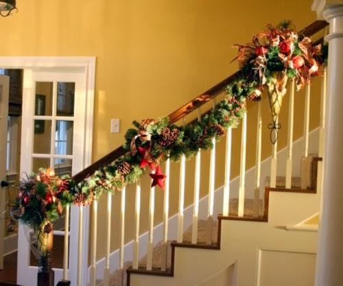 Multinotas decoraci n navide a escaleras parte 1 for Adornos navidenos para escaleras