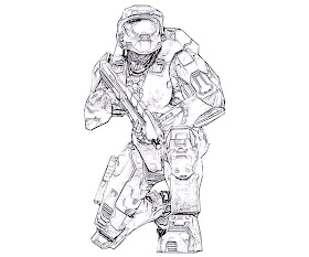 100 ideas Halo Master Chief Coloring Pages on kankanwzcom
