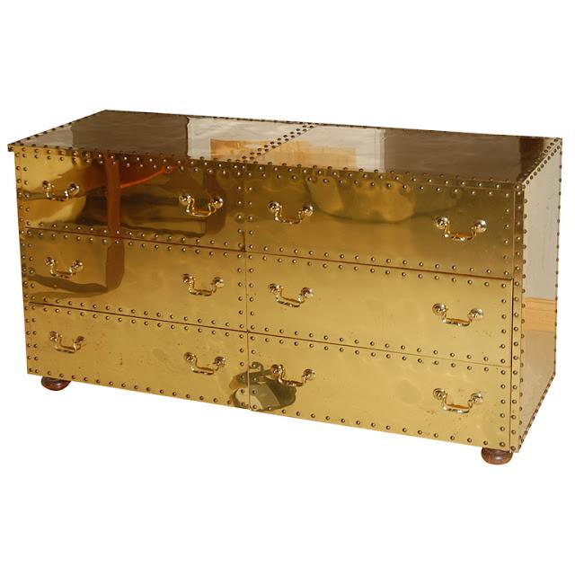 brass dresser