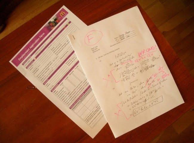 A Brilliant Teacher Attaches McDonalds Application To Failed Tests!