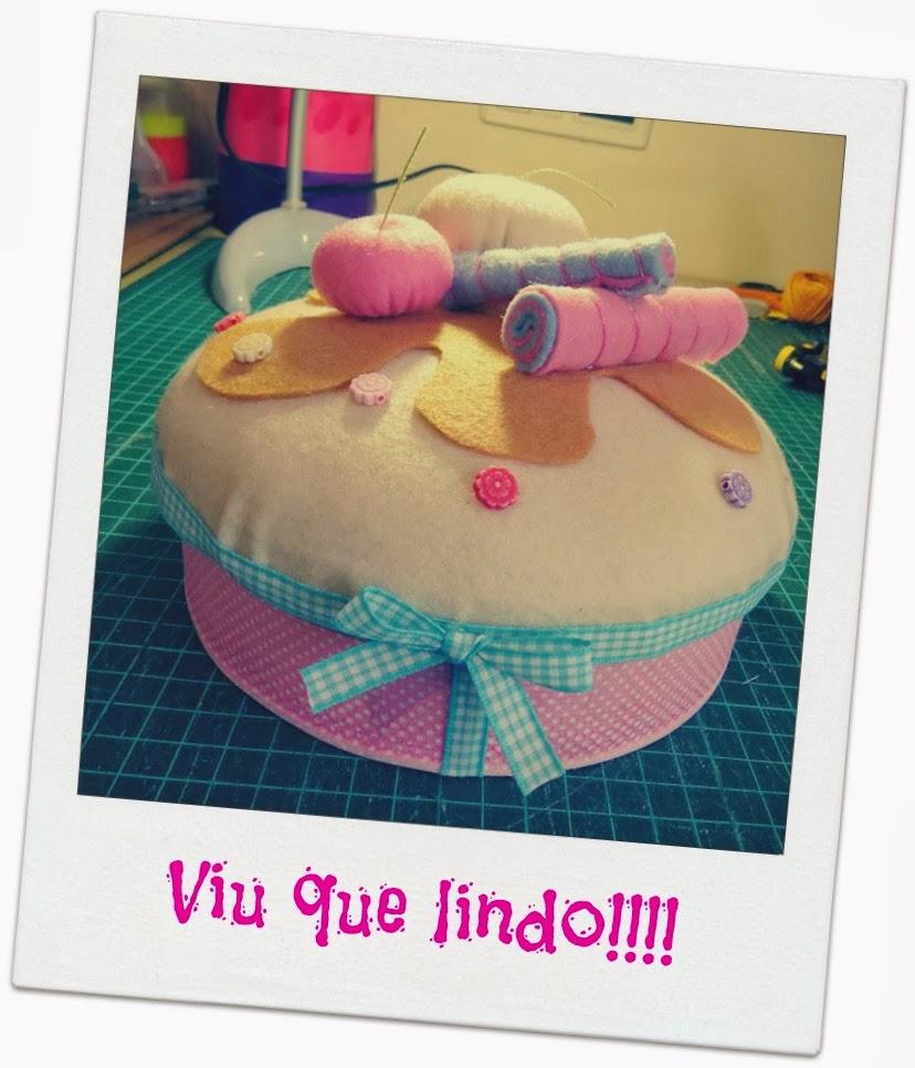 Caixa cupcake de feltro