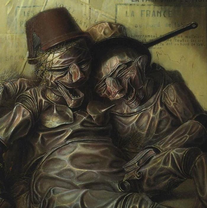 André Martins De Barros 1942   French Surrealist and Fantastic Realism painter