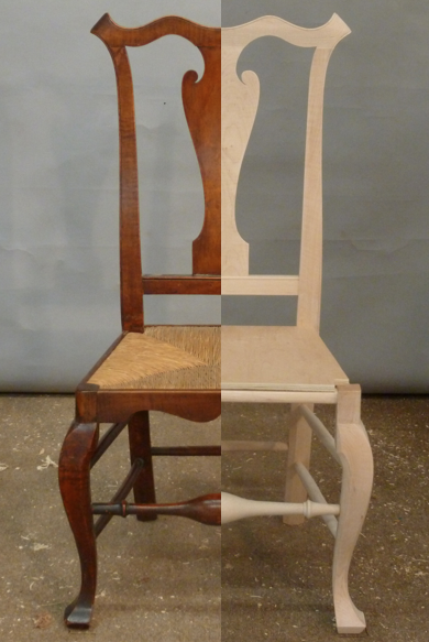 Reproduction Queen Anne Side Chair