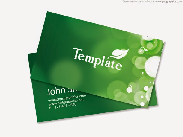 Eco Friendly Business Card Template PSD