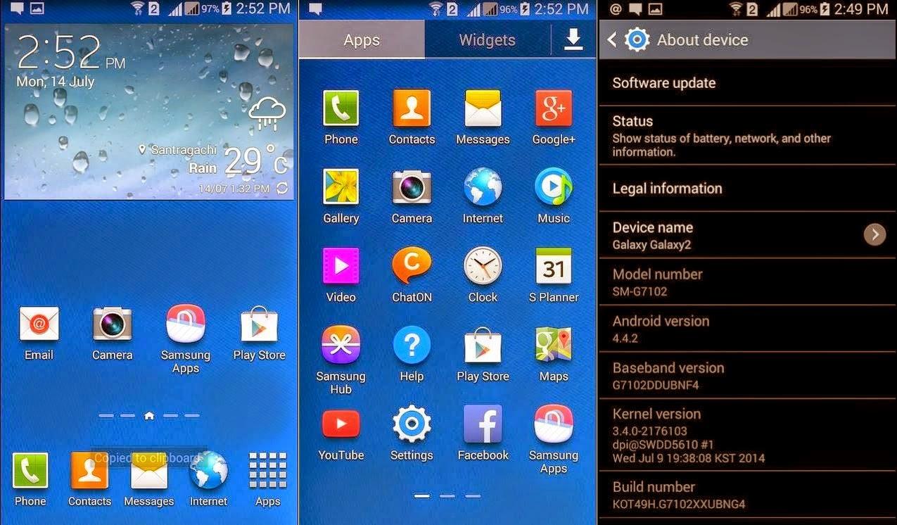Samsung Galaxy Grand 2 Sudah Bisa Update OTA KitKat 4.4