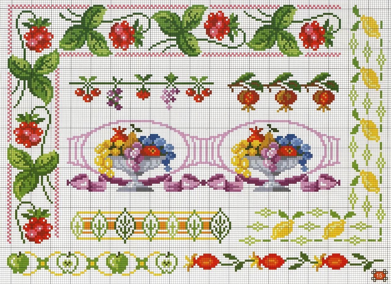 Artes da nique gr ficos em ponto cruz frutas for Piani di coperta coperti gratuiti