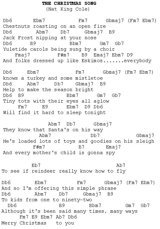 The Christmas Song Christmas Carols Lyrics And History