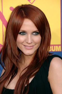 Black Hair Styles: Red hair color shades
