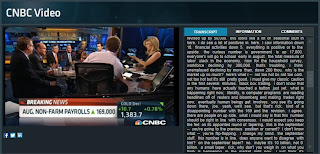 Screen shot of CNBC's website