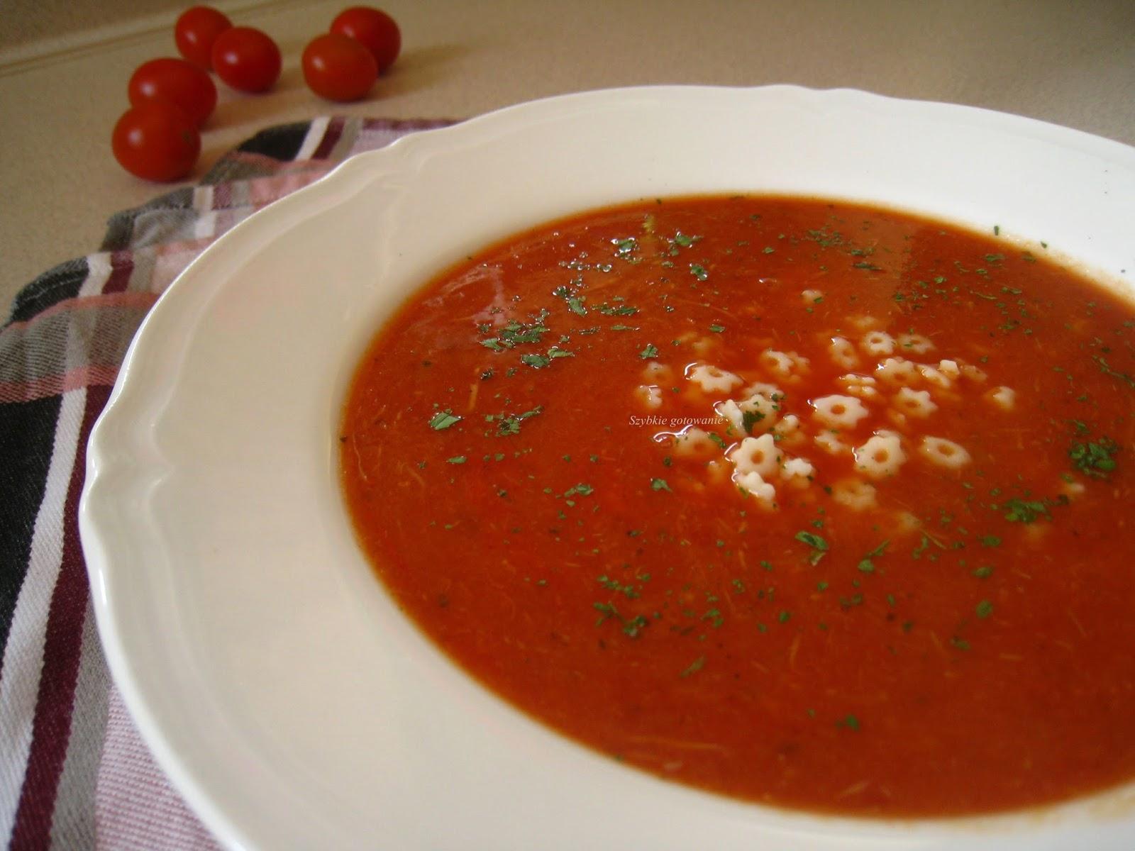 Ekspresowa zupa krem pomidorowa z mięsem