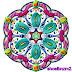 Colourful lines floral shape art designing 2013.