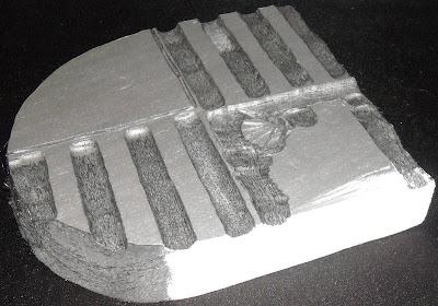 Pieza con masilla